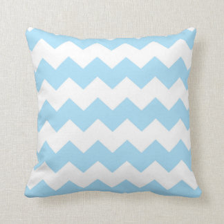 Pastel Blue / Diamond Chevron Pattern Cushion