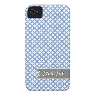 Pastel Blue Diamond Pattern iPhone 4 Cover