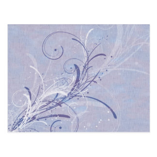 Pastel Blue Floral Grunge (2) Postcard