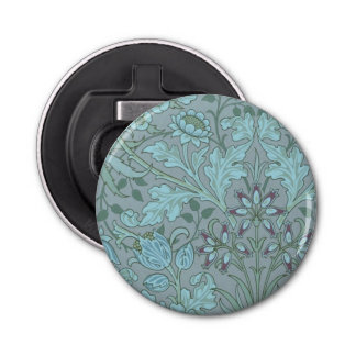 Pastel Blue Flowers Bottle Opener