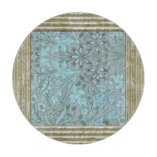 Pastel Blue Flowers Cutting Board