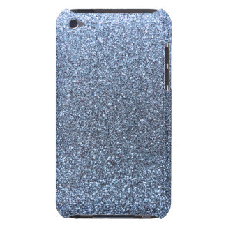 Pastel blue glitter barely there iPod cover