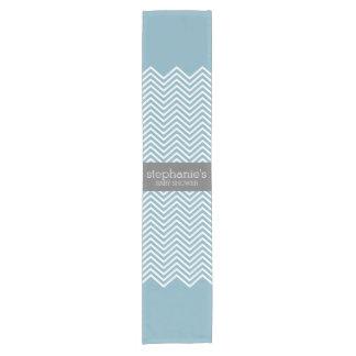 Pastel Blue & Gray Baby Shower Suite Short Table Runner