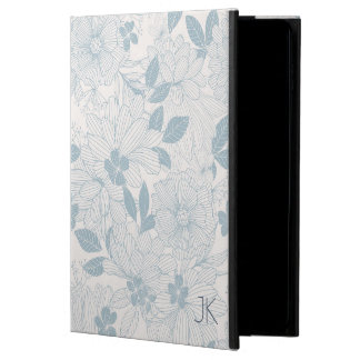 Pastel Blue-Gray Flowers Seamless Pattern GR2 Powis iPad Air 2 Case
