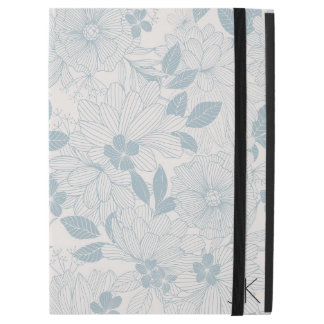 "Pastel Blue-Gray Flowers Seamless Pattern iPad Pro 12.9"" Case"