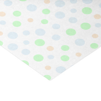 Pastel Blue, Green and Orange Dots Tissue Paper
