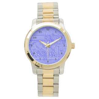 Pastel Blue Horse Racing Thoroughbred Racehorse Wrist Watch