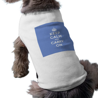 Pastel Blue Keep Calm and Carry On Shirt