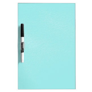 Pastel Blue Leather Look Dry Erase Board
