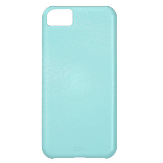 Pastel Blue Leather Look iPhone 5C Case