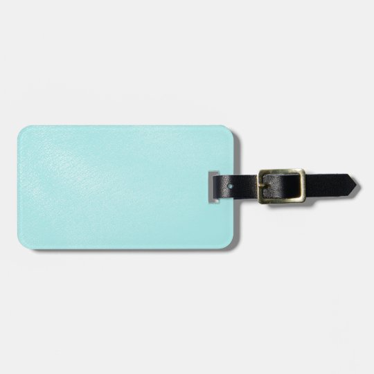 Pastel Blue Leather Look Luggage Tag