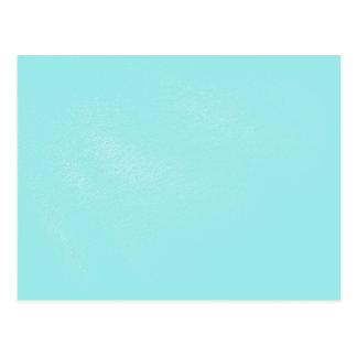 Pastel Blue Leather Look Postcard