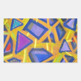 Pastel Blue Mirror Fragments Rectangular Sticker