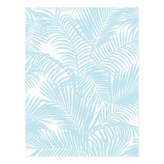 Pastel blue modern simple tropical palm tree flora