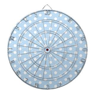 Pastel Blue Polka Dot Pattern Dartboard