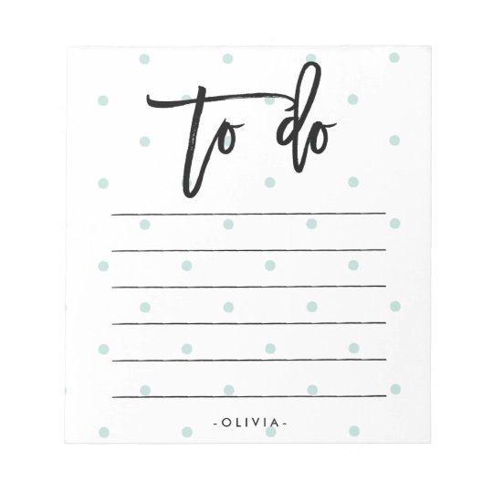 Pastel Blue Polka Dots and Typography To Do