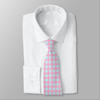 Pastel Blue Polka Dots Pink Tie