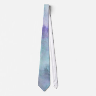 Pastel Blue Purple Watercolor Background Tie