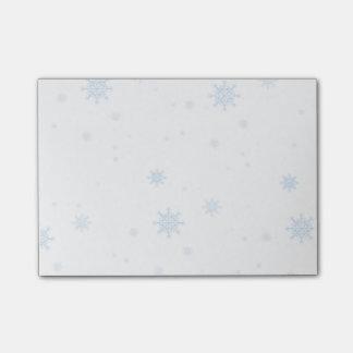 Pastel Blue Snowflake Post-It Notes