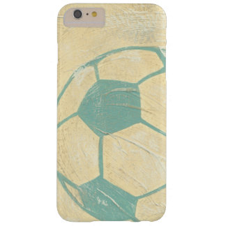 Pastel Blue Soccer Ball by Chariklia Zarris Barely There iPhone 6 Plus Case