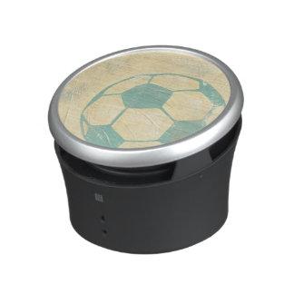 Pastel Blue Soccer Ball by Chariklia Zarris Bluetooth Speaker