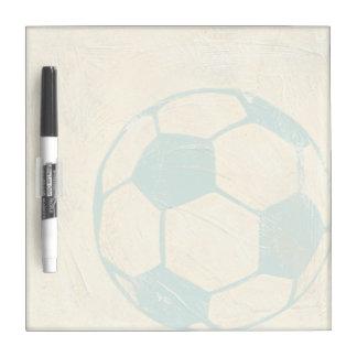 Pastel Blue Soccer Ball by Chariklia Zarris Dry Erase Board