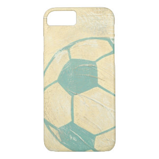 Pastel Blue Soccer Ball by Chariklia Zarris iPhone 8/7 Case