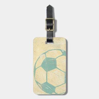 Pastel Blue Soccer Ball by Chariklia Zarris Luggage Tag