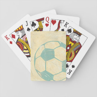 Pastel Blue Soccer Ball by Chariklia Zarris Playing Cards