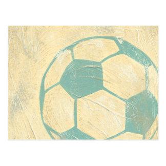 Pastel Blue Soccer Ball by Chariklia Zarris Postcard