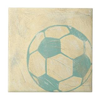 Pastel Blue Soccer Ball by Chariklia Zarris Tile