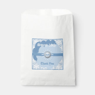 Pastel Blue Sweet 16th Favor Bag