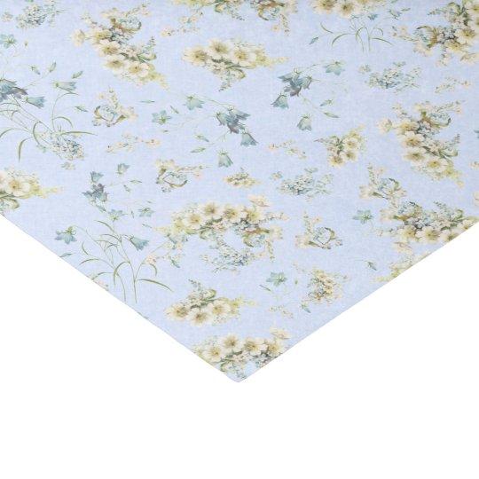 Pastel Blue vintage floral tissue paper