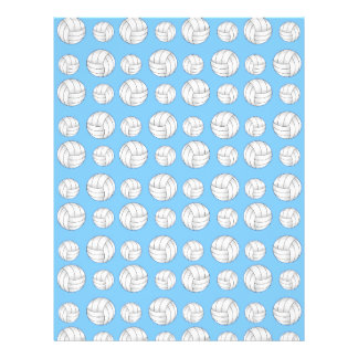 Pastel blue volleyball pattern flyer