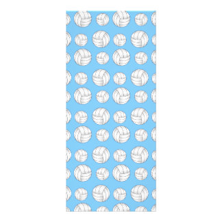 Pastel blue volleyball pattern personalized rack card