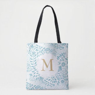Pastel Blue Watercolour Personalised Tote Bag