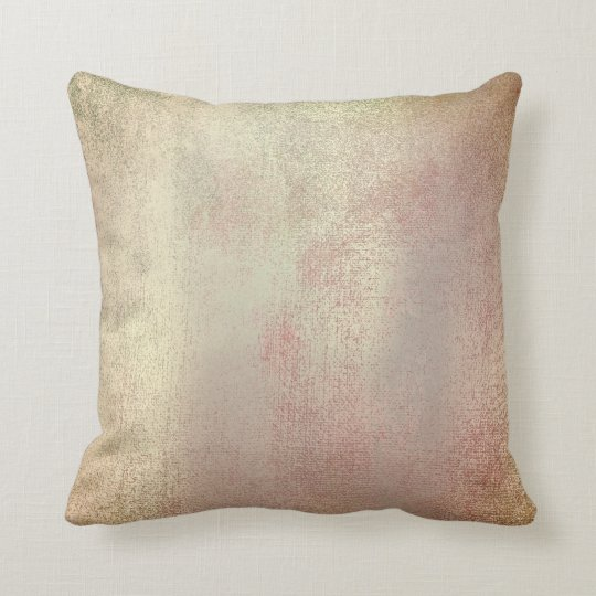 Pastel Blush Gold Mint Pink Rose Painting Copper