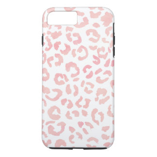 Pastel blush pink leopard pattern watercolor iPhone 8 plus/7 plus case