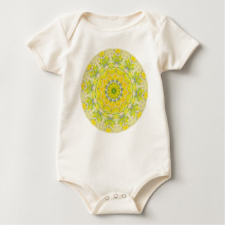 PASTEL BOHEMIAN KALEIDOSCOPIC GEOMETRIC MANDALA BABY BODYSUIT