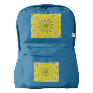 PASTEL BOHEMIAN KALEIDOSCOPIC GEOMETRIC MANDALA BACKPACK