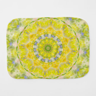 PASTEL BOHEMIAN KALEIDOSCOPIC GEOMETRIC MANDALA BURP CLOTH