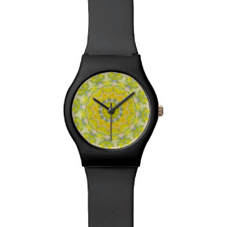 PASTEL BOHEMIAN KALEIDOSCOPIC GEOMETRIC MANDALA WATCH