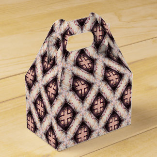 Pastel Brown Abstract Pattern Favour Box