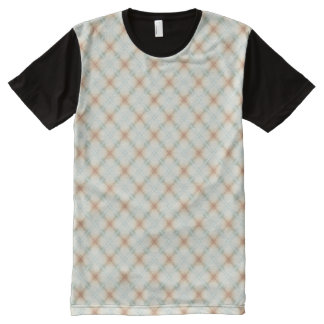 Pastel Brown And Blue Retro Pattern All-Over Print T-Shirt