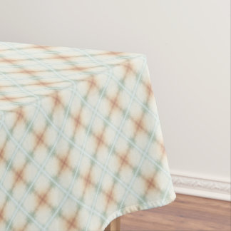 Pastel Brown And Blue Retro Pattern Tablecloth