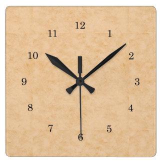 Pastel Brown Marble Clock