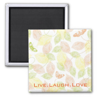 Pastel Butterflies Live Laugh Love Refrigerator Magnets