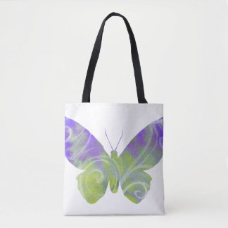 Pastel Butterfly Fibro Awareness Tote