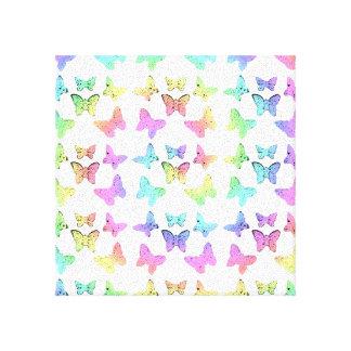 Pastel Butterfly Pattern Canvas Prints