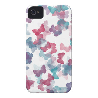 Pastel Butterfly Pattern iPhone 4 Case